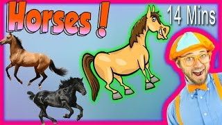 Horses for Children - Learn Farm Animals for Kids. The Horse Song from Blippi