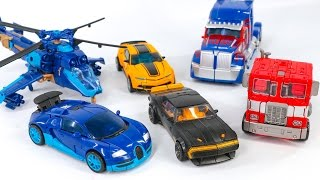 Transformers Movie 4 AOE Optimus Prime Bumblebee Drift Scan Befor After Vehicle Truck Robot Car Toys