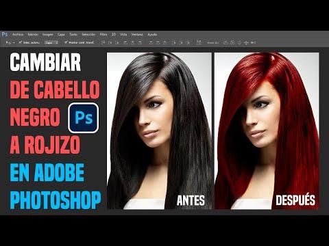Retoque Fotográfico Cambio de Color Cabello Oscuro a Rojizo en Photoshop.