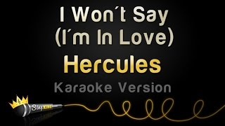 Hercules - I Won't Say (I'm In Love) (Karaoke Version)