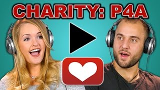 COLLEGE KIDS REACT TO CHARITY: P4A (Project For Awesome)