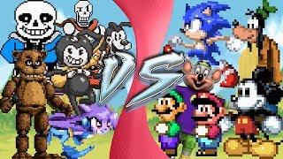 INDIE GAMES vs ORIGINALS! (Mickey vs Bendy, Sonic vs Sash Lilac, Undertale vs Earthbound) Animation