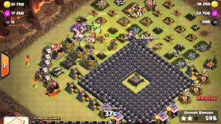 Eelius 3 star war attacks #82  Max TH9 GoWiWiPe against 'FUN' internet base by Tosho