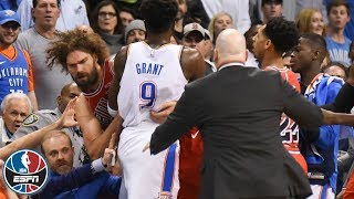 Tensions rise, Robin Lopez ejected as Thunder beat Bulls   NBA Highlights