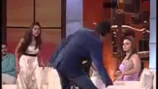 hindi bollywood girl and boy talk show real fighting