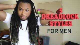 5 quick and easy dreadlock styles for men