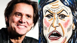 Fox News Gets Offended By Jim Carrey's AWESOME Huckabee Sanders Cartoon