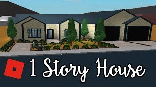 Welcome to Bloxburg: 1 Story House | Speed Build