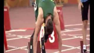 Oscar Pistorius - 100m T44 Round 1 - Beijing Paralympics