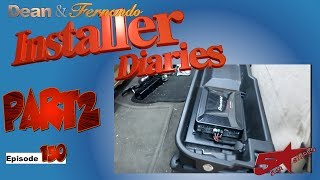 F250 5 Channel amp, Radio, and finish up the system  installer Diaries 149 part 2