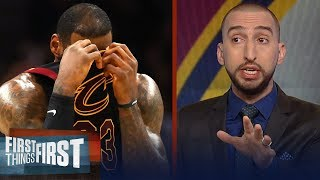 Nick Wright on the consequences for basketball if LeBron joins Warriors | NBA | FIRST THINGS FIRST