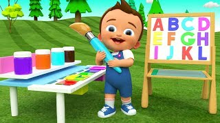 Colors & Alphabets for Children to Learn with Baby Draw ABC on Board 3D Kids Toddler Educational