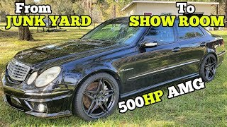 Buying, Rebuilding and Modding a Cheap Salvage Supercharged AMG Mercedes