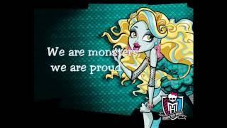 Monster High - We are monsters (Lyrics)