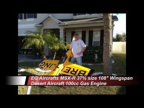 MXS R 37percent 108inch wingspan DA100cc Nigel Lamb Breitling Maiden Flight 11 12 2012
