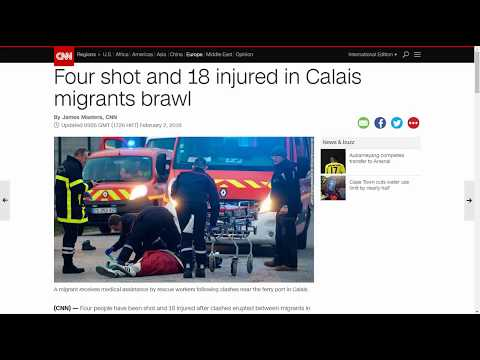 Xxx Mp4 France FOUR Shot And Eighteen Injured In Calais Migrants Brawl Text Only No Sound 3gp Sex