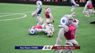 Dutch Nao Team vs. Nao-Team HTWK - RoboCup Iran Open 2018
