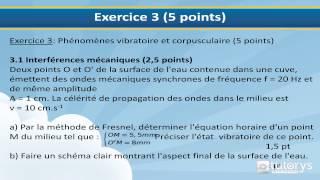 Sujet   Annale Baccalauréat Général Physique Série D TI 2014