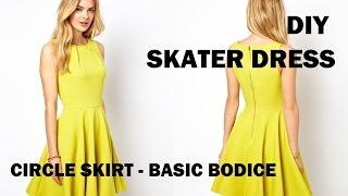DIY | HOW TO MAKE A SKATER DRESS (CIRCLE SKIRT) + PATTERN MAKING