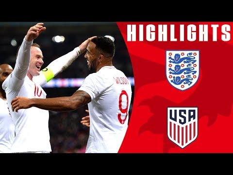 England 3-0 USA | Callum Wilson Bags International Debut Goal | Official Highlights