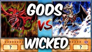 WICKED GODS vs EGYPTIAN GODS! (Yu-gi-oh God Card Deck Duel!)