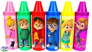 Best Learn Colors Video for Kids Alvin and the Chipmunks Episode Surprise Egg and Toy Collector SETC