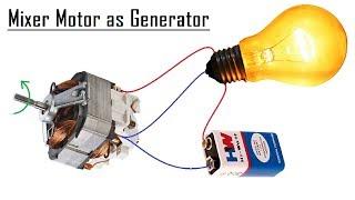 Free Energy Generator from a Mixer Motor DIY - 2017
