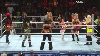 WWE Smackdown Halloween Diva Battle Royal October 31,2014