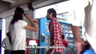 Guy asks a random girl to buy condom, gets slapped!