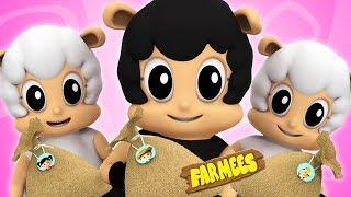 Baa Baa Black Sheep | Nursery Rhymes Songs For Children | kids kindergarten learning song | farmees