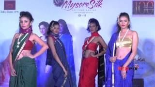 Mysore silk saree fashion show -- Models in sexy sarees - Red Pix