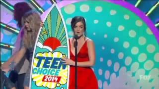 Lucy Hale wins Teen choice award TV actress in a drama 2014
