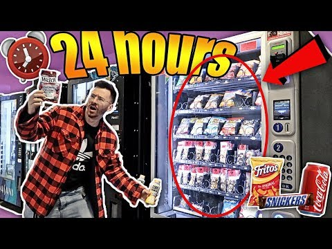 I Only Ate VENDING MACHINE FOODS for 24 hours IMPOSSIBLE CHALLENGE