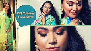 EID Makeup Tutorial 2017 | Bronzy Eyes with a Pop of Aqua Green