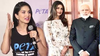 Sunny Leone's BEST Reply On Priyanka Chopra Narendra Modi Dress Controversy