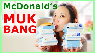 Almost got arrested in McDonald's in Germany mini Mukbang #9 | McDonald's fish burgers
