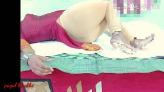Hot Indian Bhabhi in leggings on bed