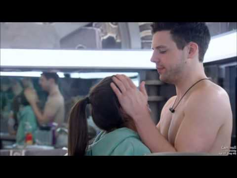 kevin and pili kiss in kitchen 4/27/15