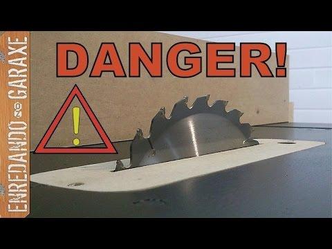 Contragolpe o kickback y otros peligros de la sierra de mesa casera