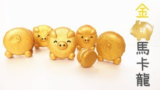 Golden Pig Macaron 金豬馬卡龍 | Two Bites Kitchen