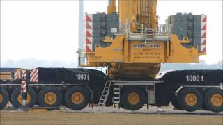 Terex AC 1000 Montage im Windpark  Rotorblätter werden montiert