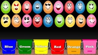 Learn Colors for Children with Surprise Eggs Color Sorting Educational Learning Video