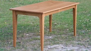 Cherry Table (part 1/3) -- Legs and Aprons