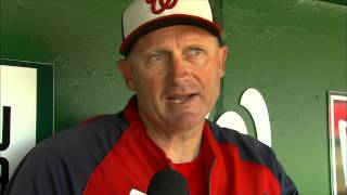 Randy Knorr explains his duties as the Nats bench coach