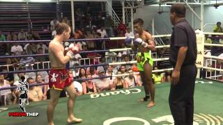 Brutal Muay Thai Fight - Lots of Elbows & Blood