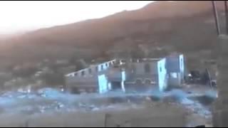 اثناء تفجير منزل الداعشي عبده هزام الشلالي بالرضمه وتسويته بالارض