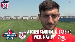 Lansing United U.S. Open Cup Round One Promo