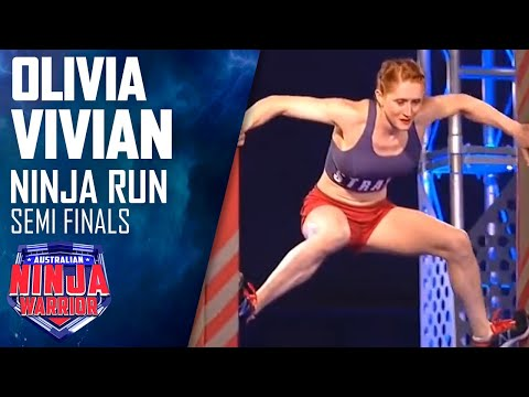 Ninja run Olivia Vivian Semi final Australian Ninja Warrior 2018