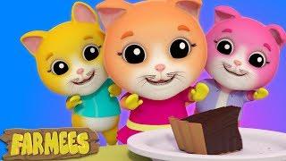 Three Little Kittens | Kindergarten Nursery Rhymes For Kids | Cartoons by Farmees