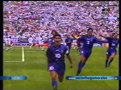Argentina 4 Grecia 0 Relato Victor Hugo Mundial 1994